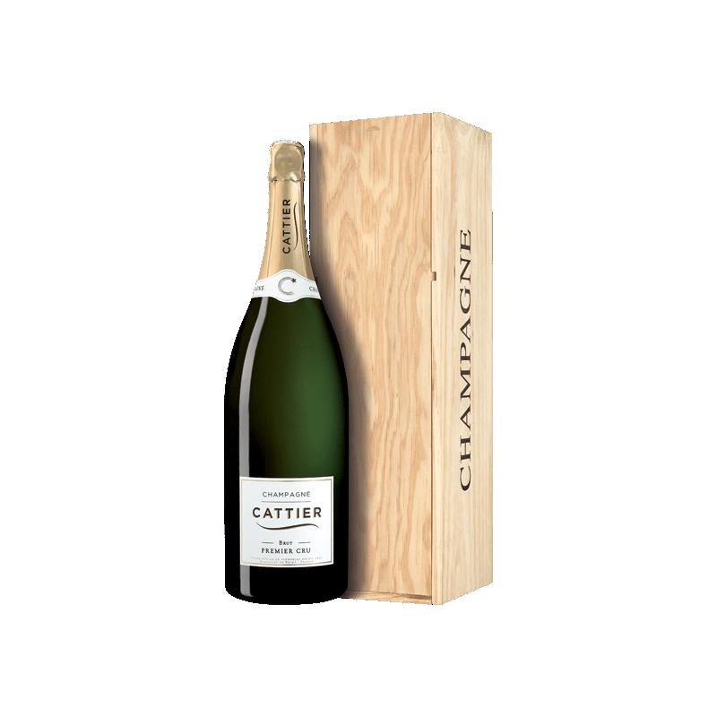 Champagne Cattier Brut Premier Cru Caisse en bois